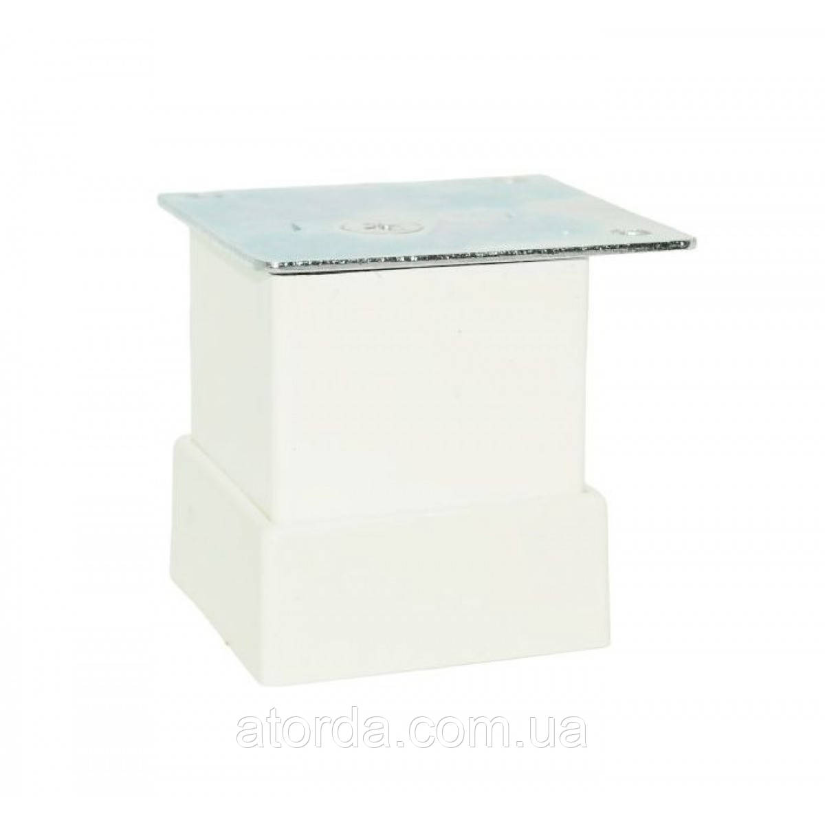 Ніжка меблева регульована Kare Duz 110-013, 40х40 мм, Н=50 мм Біла