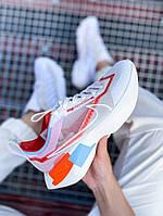 Кроссовки женские Nike Vista Lite белые с красным, Найк Виста, код KS-2202