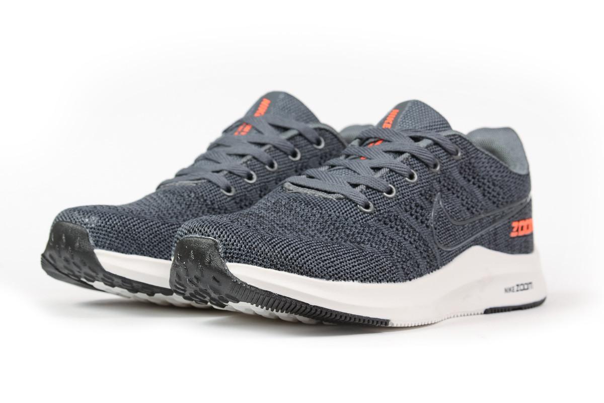 Купить Одежда и обувь, Кроссовки мужские Nike Zoom Winflo серые, Найк Зум, дышащий материал, прошиты. Код DO-16993
