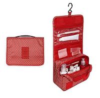 Дорожный органайзер для ванной комнаты КРАСНЫЙ | Подвесной органайзер-косметичка