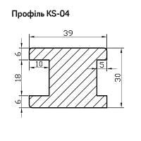 Профиль МДФ AGT KS04