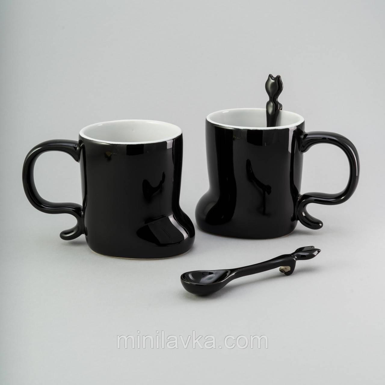 Набор чашек с ложкой Herisson EZ-2316 - 300 мл 2 шт