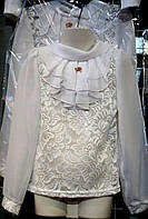 Школьная блуза для девочек 6- 12 лет, цвета разные, опт и розница - L 2021
