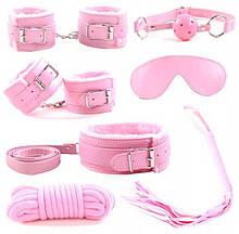 Универсальный набор BDSM для интимных игр розового цвета бдсм садо мазо