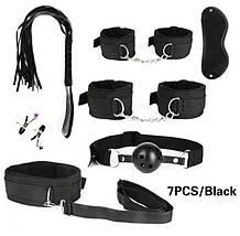 Универсальный набор BDSM для интимных игр черного цвета бдсм садо мазо