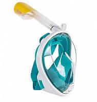 Подводная маска ЗЕЛЕНАЯ S/M | Маска для подводного плавания EasyBreath | Маска для снорклинга