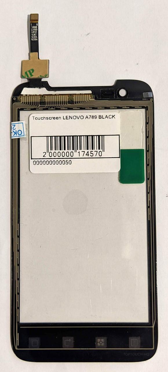 Сенсор (тачскрін) для Lenovo A789 чорний