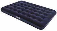 Надувной матрас Bestway Flocked Air Bed, 191х137х22 см | Велюровый надувной матрас