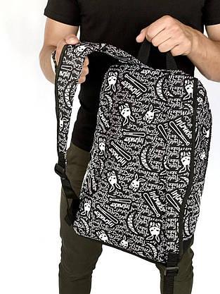 Рюкзак Intruder Bunny Logo Городской для ноутбука черный-белый, фото 2