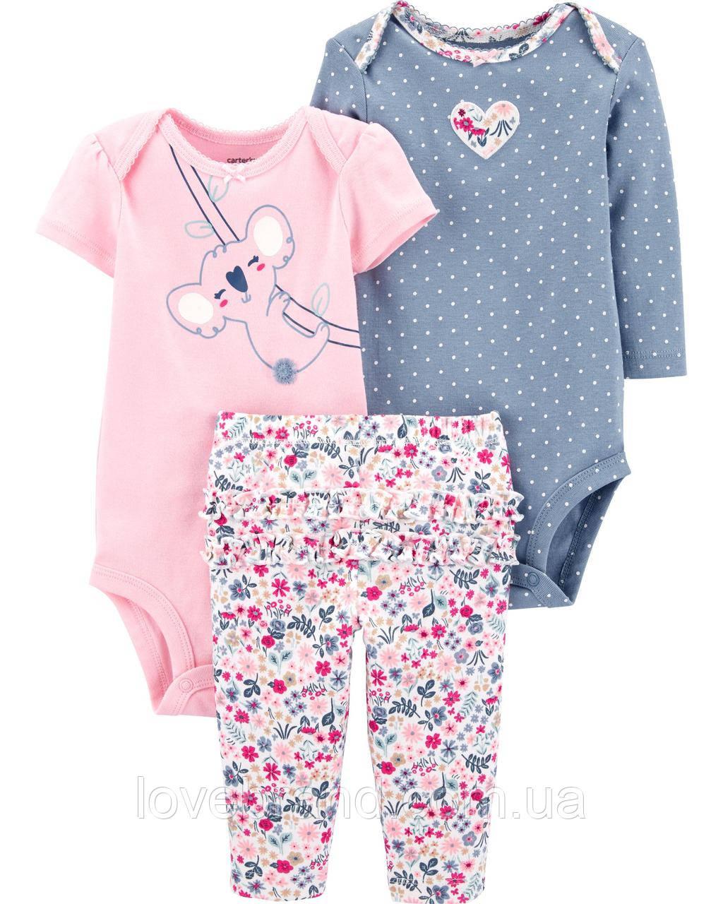 Набор для новорожденных девочек Carter's (картерс) Коалла NEW