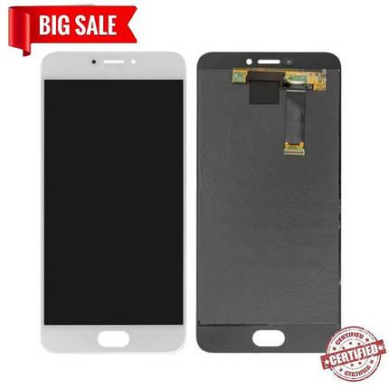 Модуль (дисплей + сенсор) для Meizu MX6 M685H білий, фото 2