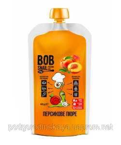 Пюре персика без сахара Bob Snail, 400г
