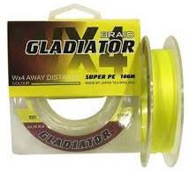 Шнур Gladiator Super PE 100m желтый