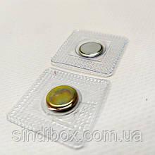 Кнопка-магніт потаємний, вшивний Ø11 мм Колір - Срібло (СИНДТЕКС-0266)
