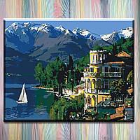 """Картина по номерам ТМ """"Идейка"""" на подрамнике, Пейзаж """"Вдохновляющая Италия"""" 40*50 см"""