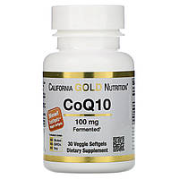 Коэнзим Кью 10 CoQ10, California Gold Nutrition, 100 мг, 30 капсул
