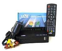 Тюнер Т2 приставка тв Tv Ресивер цыфровой приймач приемник с USB флешкой HD T2 юсб mpeg4 Dvb  для пенсионеров