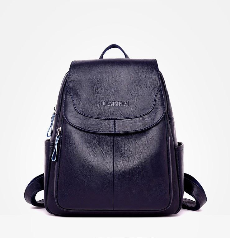 Качественный городской женский рюкзак экокожа Meizi