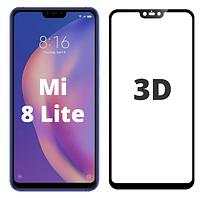 Защитное 3D стекло для Xiaomi Mi 8 Lite черное (ксиоми сяоми ми 8 лайт)