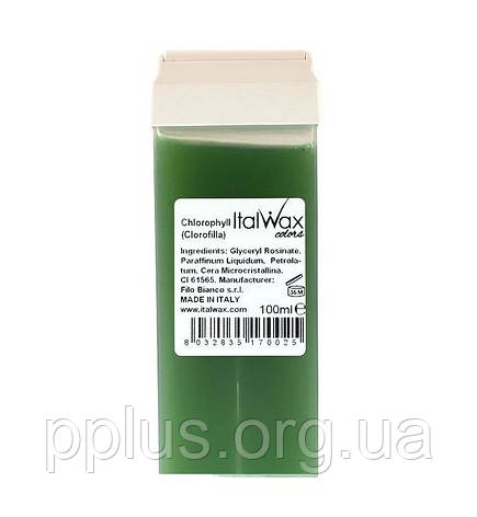 Воск кассетный Хлорофилл ItalWax 100 мл, фото 2