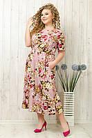 Платье женское летнее полубатальное, размеры 50,52,54. От производителя YLadies FashionV.