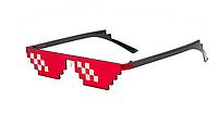 Майнкрафт Minecraft очки второй элемент  солнцезащитные очки  пиксель солнцезащитные очки Красные