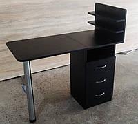 Маникюрный стол с ящиками чёрный
