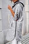 Женская куртка батал, плащевка Moncler, р-р 50-52 (серебряный), фото 7