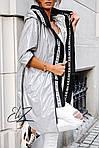 Женская куртка батал, плащевка Moncler, р-р 50-52 (серебряный), фото 9