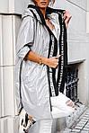Женская куртка батал, плащевка Moncler, р-р 50-52 (серебряный), фото 3