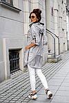 Женская куртка батал, плащевка Moncler, р-р 50-52 (серебряный), фото 4