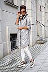 Женская куртка батал, плащевка Moncler, р-р 50-52 (серебряный), фото 6