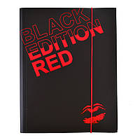 """Папка на резинке А4 """"Black Edition"""" L5603"""