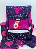 Ранец Herlitz Loop Tropical Heart Сердца с наполнением (2 пенала, сумка для сменной обуви))