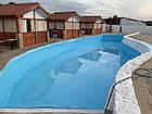 Голубая ПВХ пленка для пруда, бассейна, Agrilac Италия 1 мм ширина 4 м, фото 4