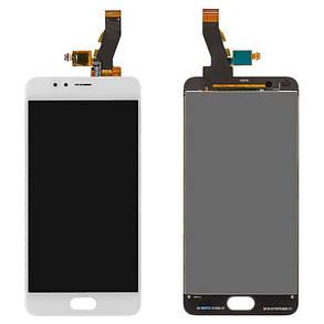 Модуль (дисплей+сенсор) для Meizu M5S білий, фото 2