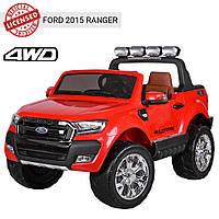 Детский электромобиль Машина Джип Ford Ranger M3573 красный для мальчика девочки 3 4 5 6 7 8 лет полный привод