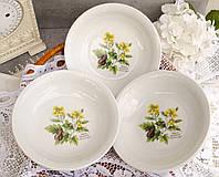 Шесть фарфоровых суповых тарелок, Royal Worcester, HERBS, Black Mustard Англия, винтаж, фото 1