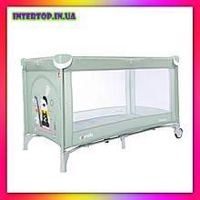 Детский игровой манеж-кровать Carello Piccolo (Каррелло Пікколо) CRL-9203  Mint Green мятный