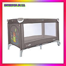 Детский игровой манеж-кровать Carello Piccolo (Каррелло Пікколо) CRL-9203  Chocolate Brown коричневый