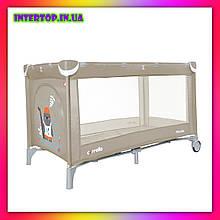 Детский игровой манеж-кровать Carello Piccolo (Каррелло Пікколо) CRL-9203/1 Cream Beige бежевый