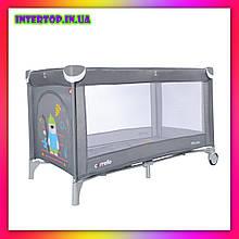 Детский игровой манеж-кровать Carello Piccolo (Каррелло Пікколо) CRL-9203  Ash Grey серый