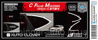 Хром молдинг стекла (уголок) Hyundai Tucson 2015- (Autoclover B935)