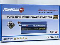 Инвертор POWERONE 12 - 220 В 600 Вт чистый синус