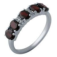 Серебряное кольцо DreamJewelry с натуральным гранатом (2005872) 17.5 размер, фото 1