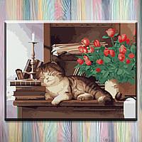 """Рисование по номерам ТМ """"Идейка"""" на подрамнике, Животные """"Домашний любимец"""" 30х40 см, без коробки"""