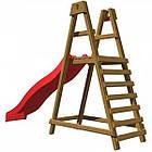 Дитячий дерев'яний майданчик з гіркою PlayBaby 2.2 м для дітей, фото 3