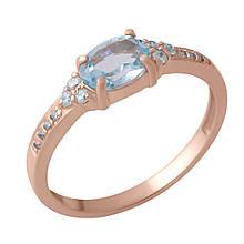 Золотое кольцо DreamJewelry с натуральным топазом 0.96ct (60001251) 18.5 размер