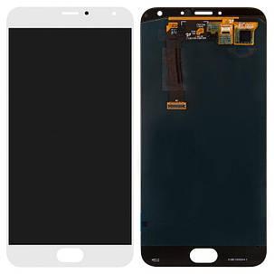 Модуль (дисплей + сенсор) для Meizu MX5 білий, фото 2