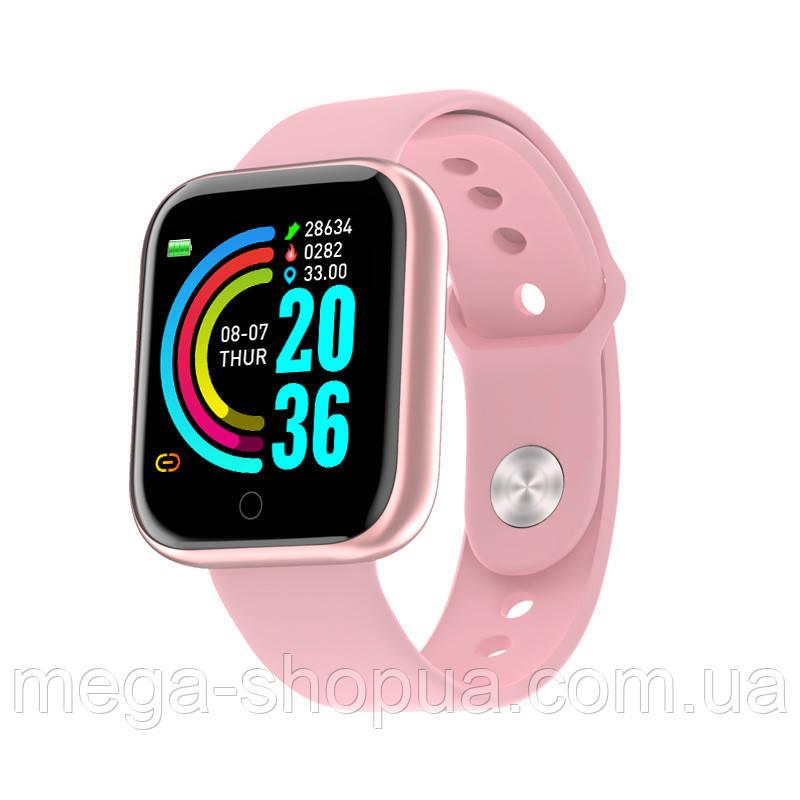Смарт-часы Smart Watch YC68 Pink, спорт часы, умные часы, наручные часы, фитнес браслет, фитнес трекер